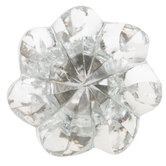 Faceted Flower Glass Knob