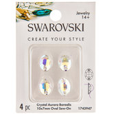 Crystal AB Oval Sew-On Flatback Crystals
