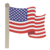 American Flag Painted Wood Shape