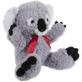 Gray Koala Bear Plush With Bow
