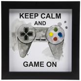 Keep Calm & Game On Wood Wall Decor