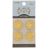 Gold Swirl Shank Buttons - 18mm