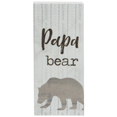 Papa Bear Wood Decor