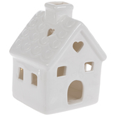 White LED House With Hearts