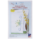 Tulips & Ribbon Cross Stitch Pillowcases Kit