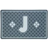 Gray Geometric Tiles Letter Doormat - J