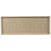 Flip Flops Wood Wall Decor
