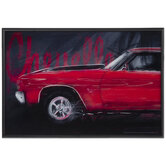 Red Chevelle Framed Wall Decor