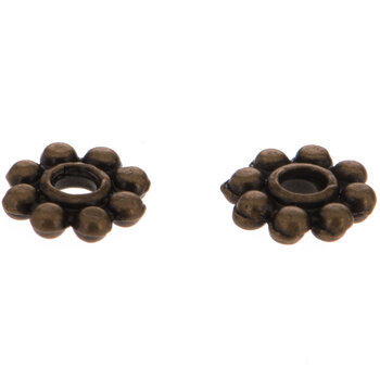 Daisy Metal Spacer Beads - 5mm x 1mm