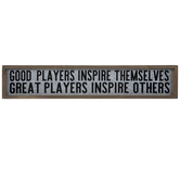 Great Players Inspire Metal Wall Decor