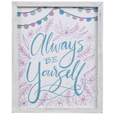 Always Be Yourself Wood Wall Decor