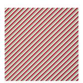 Red, White & Green Diagonal Stripe Gift Wrap