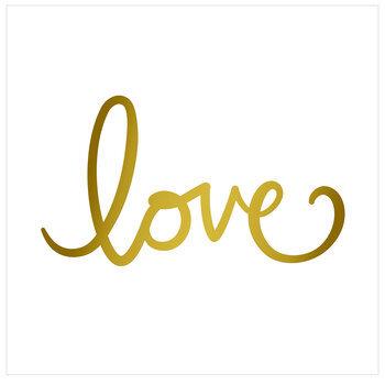 """Gold Love Scrapbook Paper - 12"""" x 12"""""""