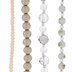 Mixed Round Glass Bead Strands