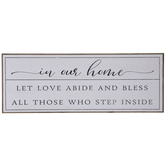 Let Love Abide & Bless Wood Wall Decor
