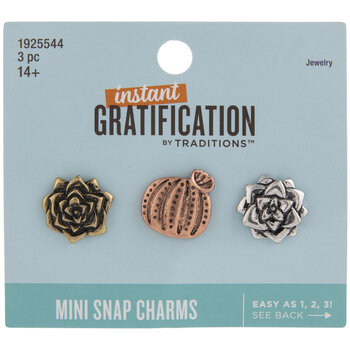 Cactus Blossoms Mini Snap Charms