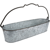 Galvanized Metal Oval Bucket