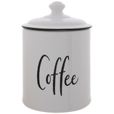 White Coffee Canister
