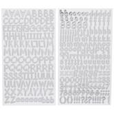 Silver Zendition Alphabet Stickers