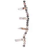 Polished Quartz Bead Strand