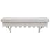 Whitewash Scalloped Wood Wall Shelf