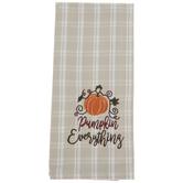 Pumpkin Everything Plaid Kitchen Towel