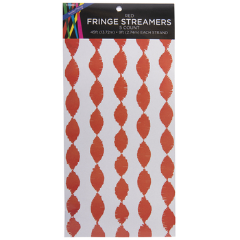 Red Fringe Streamers