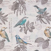 Natural & Turquoise Lansing Breeze Duck Cloth Fabric