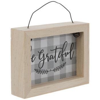 Be Grateful Buffalo Check Ornament