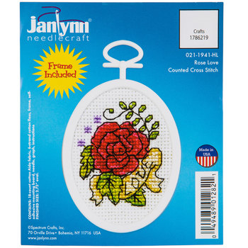 Rose Love Mini Counted Cross Stitch Kit