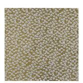 "Metallic Gold Floral Scrapbook Paper - 12"" x 12"""