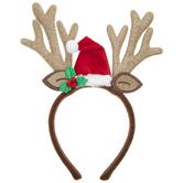 Santa Hat & Reindeer Antlers Headband