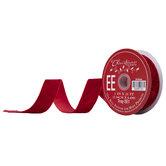 """Red Crushed Velvet Ribbon - 1"""""""