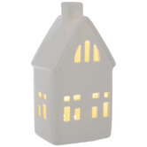 White Light Up House With Chimney