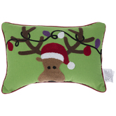 Reindeer With Lights Pillow