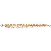 Rhinestone & Chain Connector Bracelet