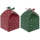 Red & Green Holly Treat Boxes
