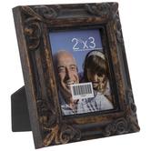 """Antique Black Embossed Frame - 2 1/2"""" x 3"""""""