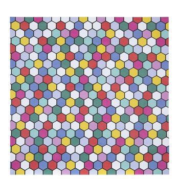 "Bright Polygon Scrapbook Paper - 12"" x 12"""