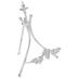 Distressed White Flourish Metal Easel
