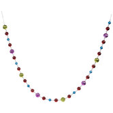 Multi-Color Textured Bead Garland