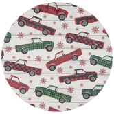 Red & Green Plaid Trucks Plate