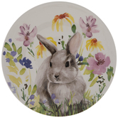 Easter Bunny Floral Plate