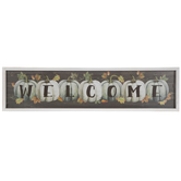 Green & White Welcome Pumpkins Wood Wall Decor