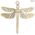 Enamel Dragonfly Pendant