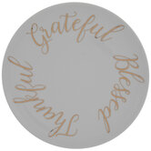 Gold Thankful, Grateful & Blessed Plate