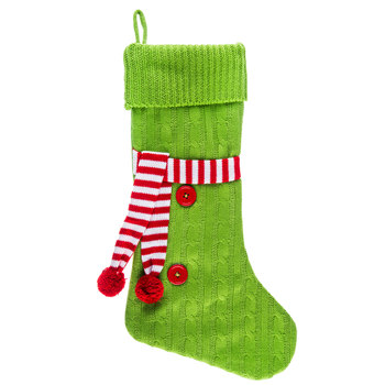 Cable Knit Stocking With Scarf