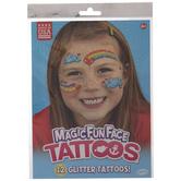 Rainbow & Cloud Temporary Face Tattoos