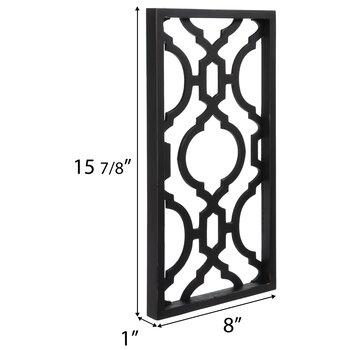 Black Geometric Lattice Wood Wall Decor