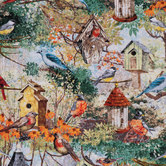 Modest Dwellings Bird Cotton Calico Fabric